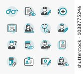 medicine and health symbols | Shutterstock .eps vector #1038775246