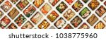 collection of take away foil... | Shutterstock . vector #1038775960