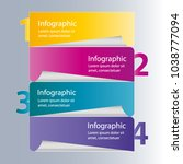 four steps info graphics   can... | Shutterstock .eps vector #1038777094