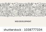 web development banner concept. ... | Shutterstock .eps vector #1038777334