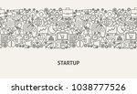startup banner concept. vector... | Shutterstock .eps vector #1038777526