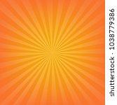 orange sunburst background with ...   Shutterstock .eps vector #1038779386