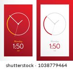 clock application red ui design ...