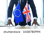 british flag and flag of... | Shutterstock . vector #1038780994