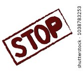 calligraphy inscription stop....   Shutterstock .eps vector #1038783253