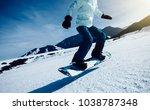 one snowboard snowboarding... | Shutterstock . vector #1038787348