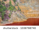 the amazing unusual red bloody... | Shutterstock . vector #1038788740