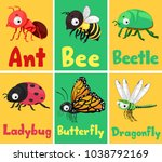 illustration of insects flash... | Shutterstock .eps vector #1038792169