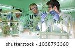 team of food researchers... | Shutterstock . vector #1038793360