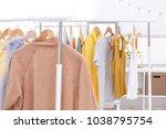 different women wear in modern... | Shutterstock . vector #1038795754