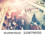 urban defocused view crowd...   Shutterstock . vector #1038798550