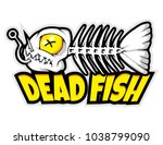 fish bone mascot for logo and t ... | Shutterstock .eps vector #1038799090
