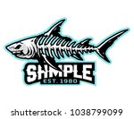 fish bone mascot for logo and t ... | Shutterstock .eps vector #1038799099