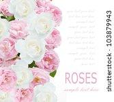 tea and white roses wedding... | Shutterstock . vector #103879943