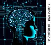 neural network. deep learning.... | Shutterstock .eps vector #1038805543