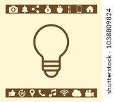 light icon symbol | Shutterstock .eps vector #1038809824