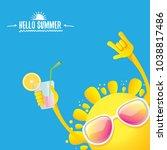 hello summer rock n roll vector ... | Shutterstock .eps vector #1038817486