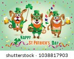 vector humorous greeting card... | Shutterstock .eps vector #1038817903