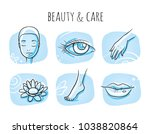 beauty cosmetic treatment icon... | Shutterstock .eps vector #1038820864
