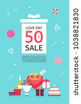 anniversary event popup | Shutterstock .eps vector #1038821830