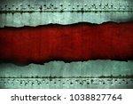 old metal frame  grunge...   Shutterstock . vector #1038827764