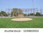 empty baseball field pitcher... | Shutterstock . vector #103883003