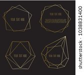 set of geometrical polyhedron ...   Shutterstock .eps vector #1038831400