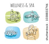 icon item set wellness  spa ...   Shutterstock .eps vector #1038833746