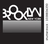 brooklyn new york typography... | Shutterstock .eps vector #1038836350
