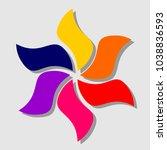 hexagonal flower  logo design... | Shutterstock .eps vector #1038836593