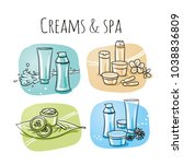 icon item set skin care ... | Shutterstock .eps vector #1038836809