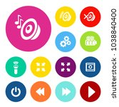 vector sound and play buttons.... | Shutterstock .eps vector #1038840400