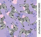 zebra pattern  illustration ... | Shutterstock .eps vector #1038843880