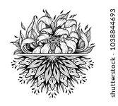 flower mandala. vintage... | Shutterstock .eps vector #1038844693