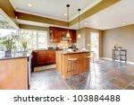 Luxury Kitchen Interior With...
