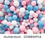 many colorful balloons... | Shutterstock . vector #1038846916