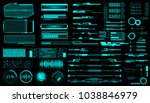 hud virtual futuristic elements ... | Shutterstock .eps vector #1038846979