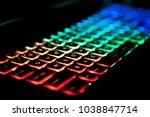 closeup of keyboard... | Shutterstock . vector #1038847714