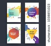 set of vector abstract... | Shutterstock .eps vector #1038851023