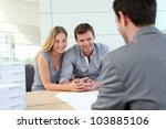 couple in real estate agency... | Shutterstock . vector #103885106