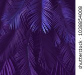 creative tropic purple leaves... | Shutterstock . vector #1038854008
