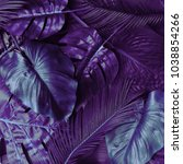 creative tropic purple leaves... | Shutterstock . vector #1038854266