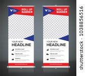 roll up banner design template  ... | Shutterstock .eps vector #1038856516