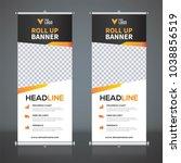 roll up banner design template  ... | Shutterstock .eps vector #1038856519