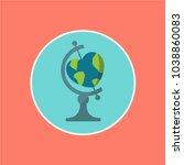 creative   concept love. world... | Shutterstock .eps vector #1038860083