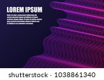 futuristic template design... | Shutterstock .eps vector #1038861340