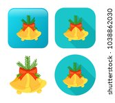 vector christmas bell icon  ... | Shutterstock .eps vector #1038862030