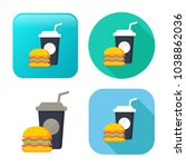 junk food icon   fast food icon ... | Shutterstock .eps vector #1038862036