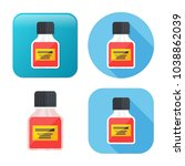 medicine bottle icon   medicine ... | Shutterstock .eps vector #1038862039