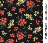 vintage floral pattern. cute... | Shutterstock . vector #1038862060